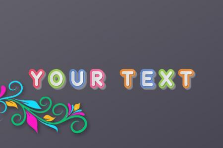 Tạo chữ màu sắc