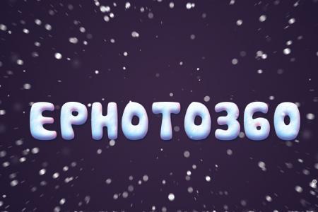 Tạo chữ băng tuyết