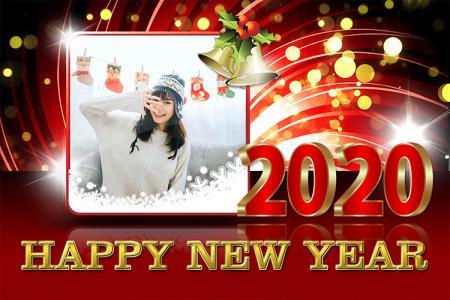 Khung ảnh happy new year 2020