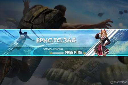 Tạo banner Youtube game Free Fire online