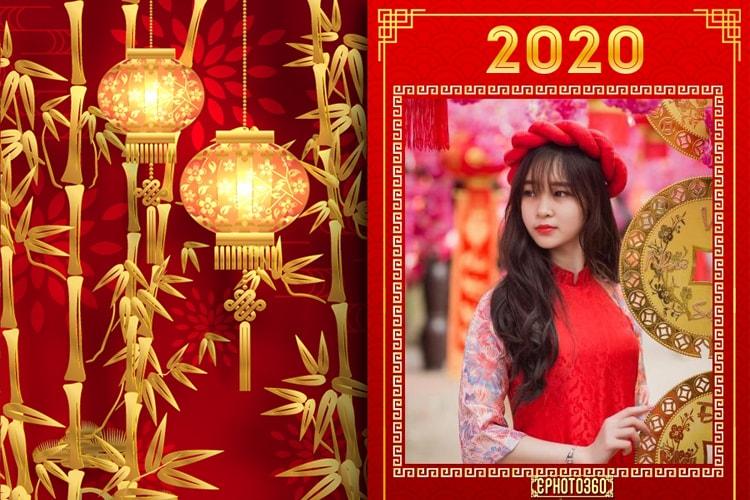Ghép ảnh tết, khung ảnh tết nguyên đán 2020