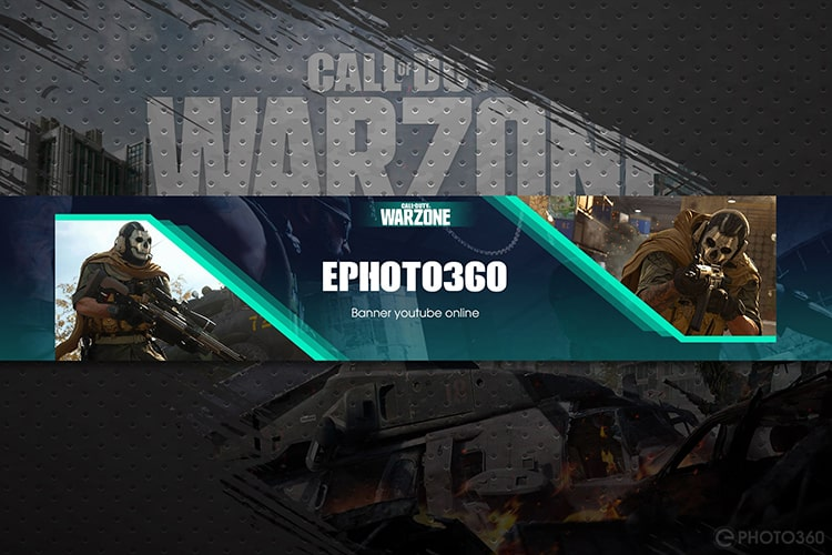 Tạo banner youtube Call of Duty Warzone miễn phí